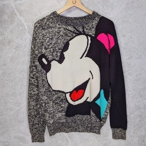 VTG Minney Mouse warm chunky knit sweater